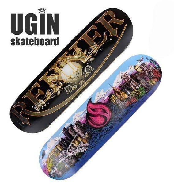 【優上精品】送包送工具美國UGIN 專業四輪雙翹滑板 高級組裝凹板 成人滑板(Z-P3175)
