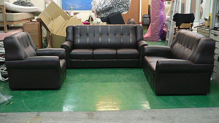二手家具 台中 樂居全新中古傢俱*BN805全新透氣乳膠皮沙發組*皮沙發 乳膠皮沙發 全新皮沙發 客廳桌椅 泡茶桌椅