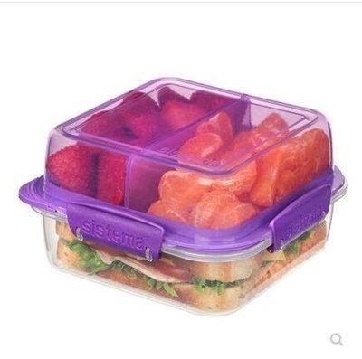 全館折扣新西蘭SISTEMA 單層三明治盒 便當盒 沙拉水果盒 健身輕食盒  盯目家