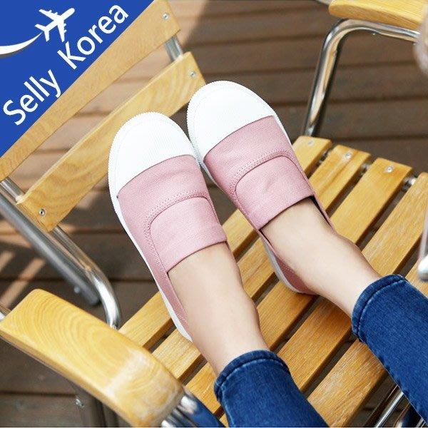 帆布懶人鞋 正韓 奶油頭 BM款  休閒鞋-Selly-沙粒-(KR057)6色