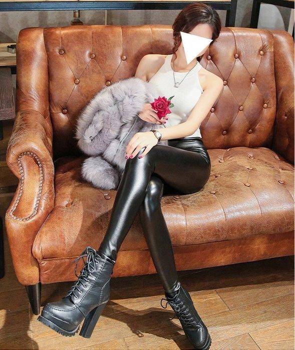 內搭褲【TPI010】牛奶絲內裏短毛絨皮褲(有尺寸)韓版素面 百搭保暖顯瘦褲 彈力 內搭褲 打底褲 收納女王