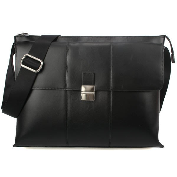 【姊只賣真貨】Calvin Klein CK LOGO壓紋多功能掀蓋斜背包(黑色)