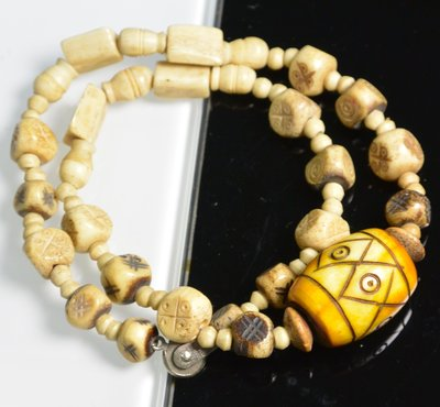 [天地居] 原住民 骨雕老項鍊