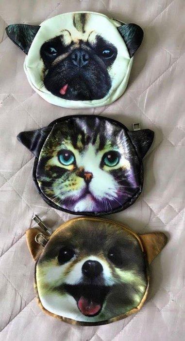 貓狗頭零錢包