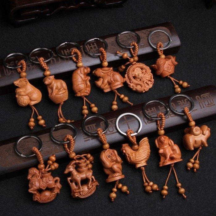 【SPSP】 十二生肖鑰匙圈 鼠 牛 虎 兔 龍 蛇 馬 羊 猴 雞 狗 豬 12生肖鑰匙圈 擺件 配件 吊飾