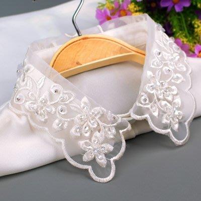假領子 襯衫 領片-花朵刺繡鏤空網紗女裝配件73va48[獨家進口][米蘭精品]