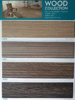 美的磚家~FLOORWORKS時尚風枕木紋塑膠地磚塑膠地板~特殊寬長版18cmx122cmx2.0m/m,800元/坪.
