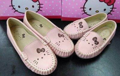 [kiki鞋舖]Sanrio Hello Kitty大頭造型娃娃鞋福樂鞋懶人鞋豆豆鞋休閒鞋台灣製粉色19號21號