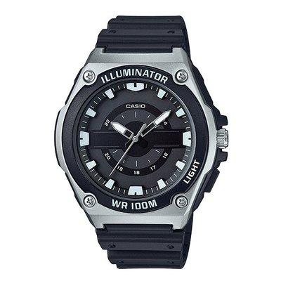 CASIO石英錶 LED照明 中性錶男女可 立體整點刻度100米防水 公司貨保固【特惠價】MWC-100H