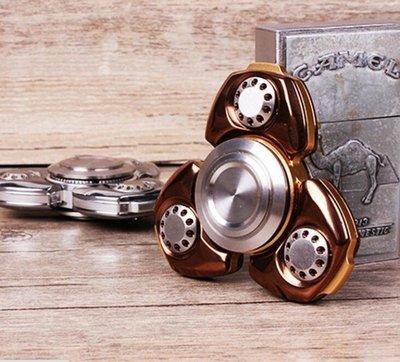 三葉版合金指尖陀螺  俄羅斯CKF    EDC指間螺旋不銹鋼減壓軸承玩具