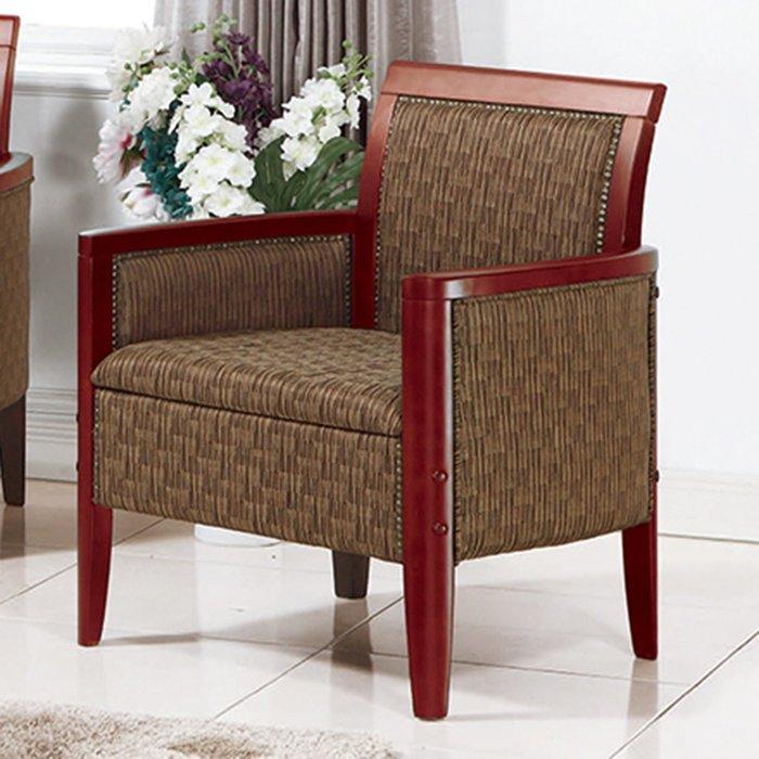 【在地人傢俱】19 樂樂購-400咖啡色布1人/一人/單人休閒沙發椅 JL100-4