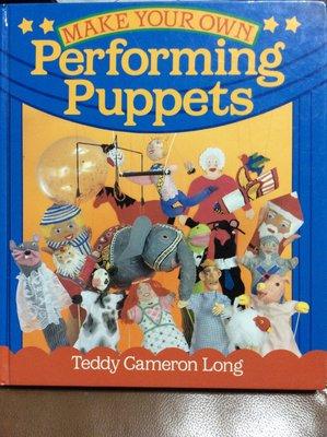 原文書 英文 親子DIY 美國帶回偶戲製作書Performing Puppets 精裝書