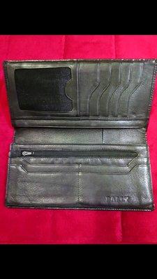 正品 BALLY 真皮鱷魚壓紋高單價黑色長夾 (皮革超柔軟)