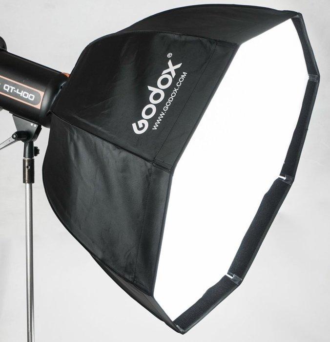 呈現攝影-Godox 摺傘式八角柔光罩 80cm 弧型 Bowens卡口 網格 銀底二層柔光布 八角罩 外拍棚拍 離機閃