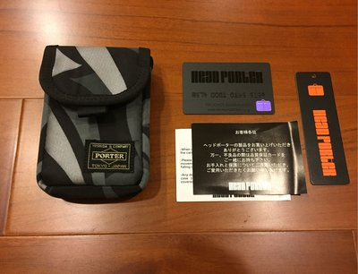 Clot Alienegra x Head Porter 日本 吉田包 聯名 黑荊棘 腰包 小包 iPod case 冠希