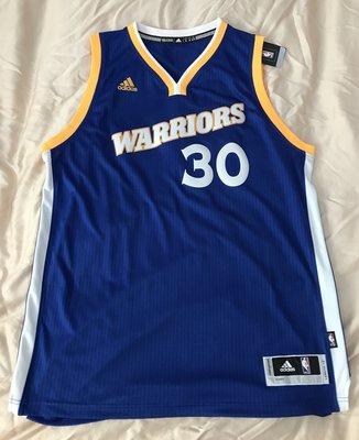 NBA球衣 Stephen Curry 金州勇士 客場籃 熱轉印  BF0116 XL 全新含吊牌