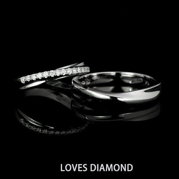 【LOVES鑽石批發】歸屬-天然鑽石白金(PT950)男、女戒指-另售GIA/婚戒/鑽戒/對戒 LOVES DIAMOND