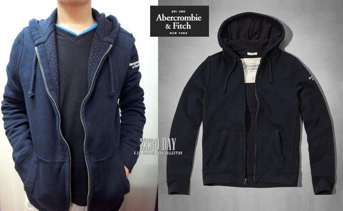 【零時差】A&F Abercrombie&Fitch HAYSTACK MOUNTAIN HOODIE限定款連帽外套深藍