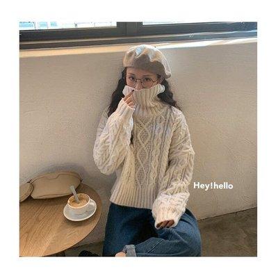 (現貨)正韓親膚傘狀高領羊毛毛衣