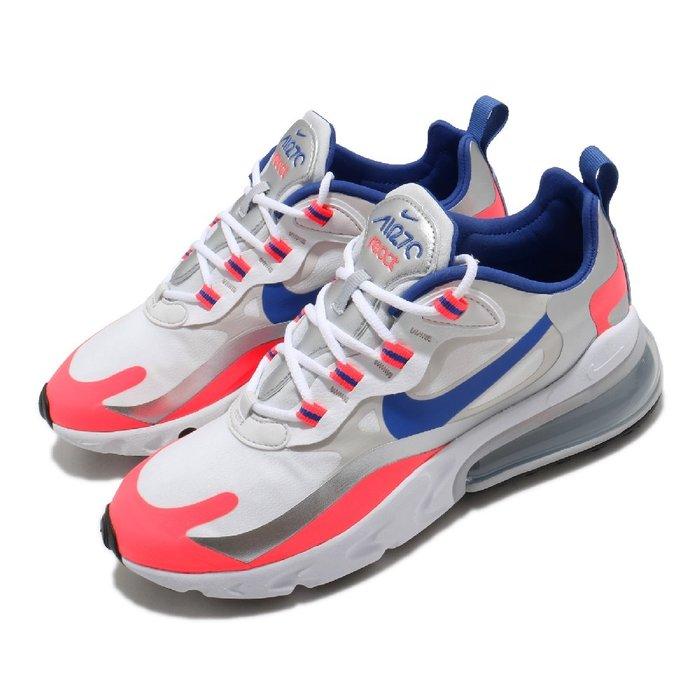=CodE= NIKE W AIR MAX 270 REACT 網布慢跑鞋(白藍橘銀) CW3094-100 氣墊 女