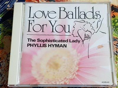 R西洋女(二手CD)THE SOPHISTICATED LADY~PHYLLIS HYMAN~日本版~無ifpi