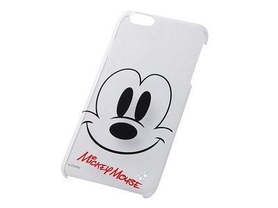尼德斯Nydus~* 日本 迪士尼 米老鼠 米奇 Mickey 硬殼 手機殼 透明 大臉款 5.5吋 iPhone6+