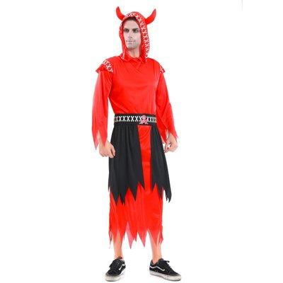 禧禧雜貨店-萬圣節舞會服裝演出表演成人惡魔死神地獄使者衣服邪惡撒旦幽靈#萬聖節道具#萬聖節裝飾#萬聖節服裝#萬聖節飾品