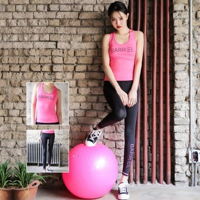 瑜珈 服 兩件套 運動 套裝-顯瘦速乾高彈背心女健身衣3色73mt11[獨家進口][米蘭精品]