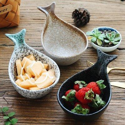 日式鯨魚陶瓷碗-沙拉碗 甜品碗 醬料碟 點心碗 陶瓷餐具 多用途陶瓷碗_☆優購好SoGood☆