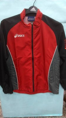 ASICS亞瑟士 男 慢跑輕薄外套 平織 防潑水 防風 路跑專用  XRK275-2391 紅黑 公司貨 現貨