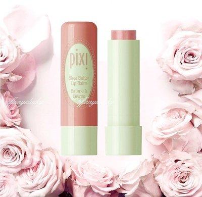 英倫甜心品牌 PIXI【Shea Butter Lip Balm乳木果油潤色護唇膏.sweet peach蜜糖桃色】