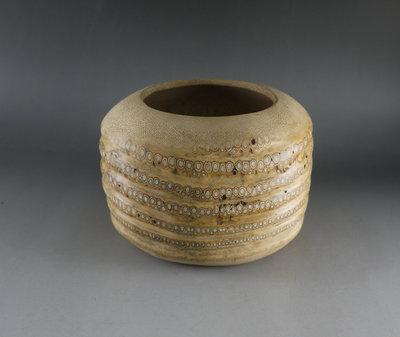 筆筒 置物筒  大水孟 置茶具 - 手工挖製 滿釘**  ...M85