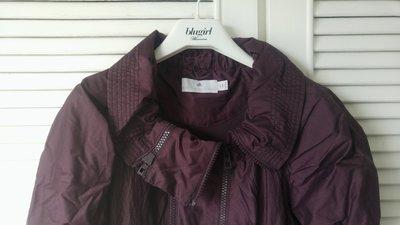 Stella Macartney X Adidas 茄紫色造型雙拉鍊夾克外套