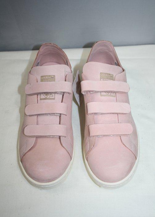 海洋工坊二手名牌旗艦店~ADIDAS STAN SMITH 粉紅色魔鬼氈球鞋(Size:7 1/2)