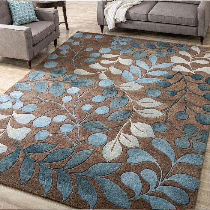 北歐潮牌黑白簡約現代門墊客廳茶幾沙發地毯臥室床邊墊長方形地墊  一件免運