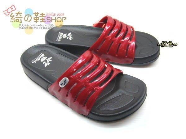☆綺的鞋鋪子☆㊣【牛頭牌】新款休閒輕量運動拖鞋 室內拖鞋舒適防水透氣 〈女〉 909051紅 台灣製造