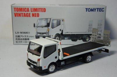 TOMICA LV-N144a 白色 NISSAN Atlas F24 花見台自動車(1/64模型車)救援車