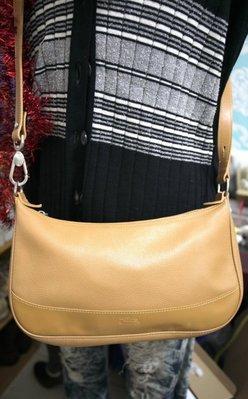 全新LONGCHAMP法國製牛皮牛角包側背包肩背包