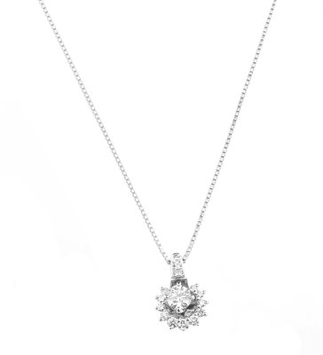 【JHT金宏總珠寶/GIA鑽石專賣】天然鑽石項鍊(JB48-A12)