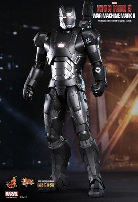 鐵甲奇俠 Hot Toys Iron Man 3 War Machine Mark II 1/6th scale Limited Diecast New!!!