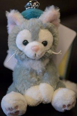 尼德斯Nydus~* 日本 東京迪士尼海洋限定 達菲熊 Gelatoni 傑拉托尼 畫家貓 玩偶 吊飾 坐姿