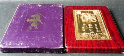 兩千寶鈔紀念期金鎮《中央造幣廠限量發行666枚》材質:銅鍍金,稀少!