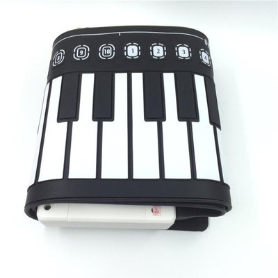 便攜式鋼琴49鍵手卷鋼琴鍵盤女折疊軟初學者學生手卷電子鋼琴音響-蛋蛋年代