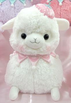 日本AMUSE原裝正版限定 ARPAKASSO 草泥馬 羊駝 公仔 白色 46cm