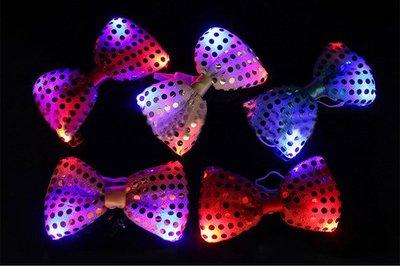 發光領結LED閃光領結蝴蝶結發光領結派...
