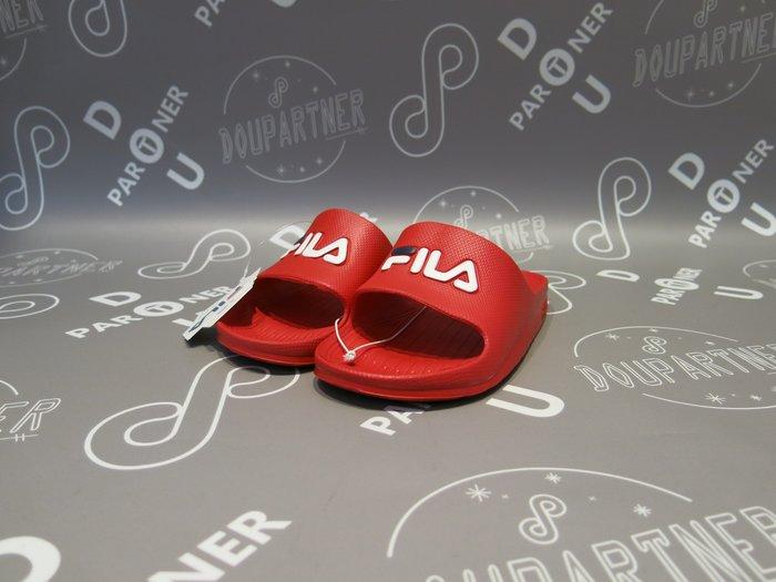 【Dou Partner】FILA 休閒鞋 拖鞋 復古 防水 沙灘拖 紅色 運動拖鞋 女鞋 4-S355Q-221