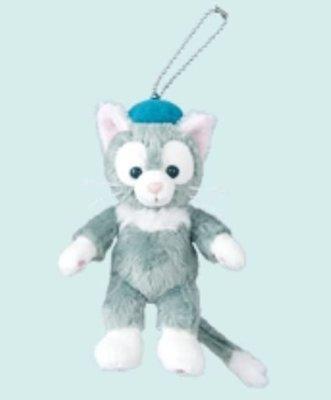 【日本迪士尼代購】Duffy達菲熊的好朋友 Gelatoni 傑拉東尼 畫家貓 站姿絨毛娃娃珠鍊吊飾 (預購)