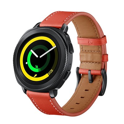 佳明 Garmin Forerunner745 手錶帶 Venu SQ  20mm 替換腕帶 頭層牛皮 商務型手錶帶