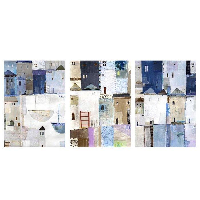 現代抽象建築裝飾畫客廳沙發背景歐式掛畫牆畫