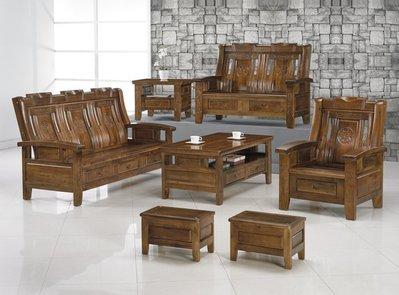 【DH】商品貨號BC182-1商品名稱 《華強》香樟實木1.2.3椅組含大小茶几附輔助椅*2。可拆賣。主要地區免運費
